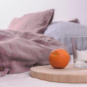Woodrose Washed Linen Duvet Cover